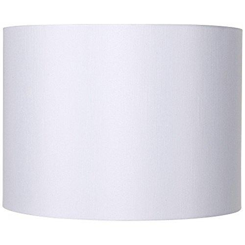White Hardback Drum Lamp Shade 16x16x12 (Spider) - Brentwood