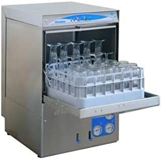 30 Rack/Hr Undercounter High Temperature Sanitizing Glass Washer w/Booster