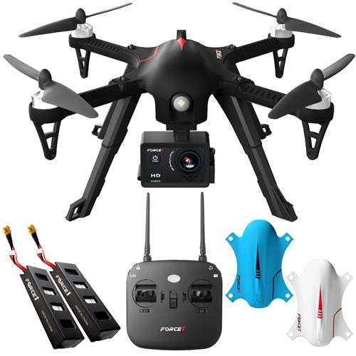 Fantastic Deal! Force 1 F100 RC Brushless Motor 1080 HD Drone with Extra Battery