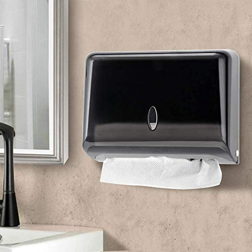 AILELAN Paper Towel Dispenser, Commercial Toilet Tissue Dispensers Wall Mount Paper Towel Holder Multifold/C-Fold Paper Towel Dispenser for Kitchen and Restroom Decor (Black)