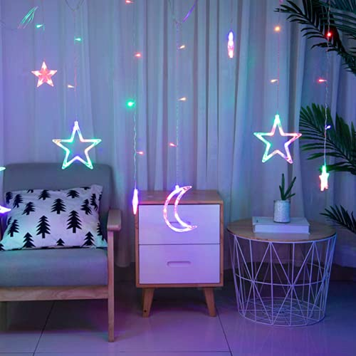 Lichtervorhang Fenster led,Lichtervorhang Lichter Weihnachtsbeleuchtung,LED Lichterkette,Lichtervorhang Fenster Sterne,LED Sterne Lichterkette,LED Lichtervorhang Lichterkette,Lichterkette