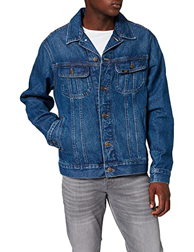 Lee Rider Jacket Chaqueta de Mezclilla, Azul (Mid Stone KE), Small para Hombre