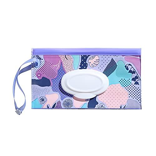Lindo caso de transporte de moda Snap-Strap Portable Flip Cover Caja de pañuelos Wet Wipes Bag Cochecito Accesorios Cosméticos Bolsa (1)
