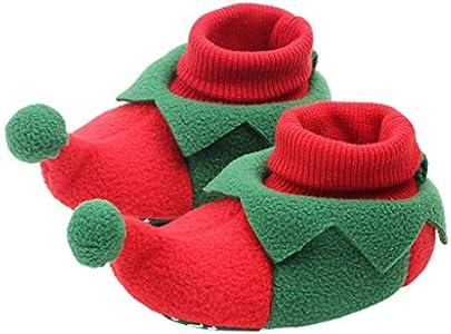 VOVOL Zapatos de cuna antideslizantes para recién nacido, para Navidad, cumpleaños, fiesta, para jugar al aire libre, fotografía, día de la familia, casual, uso diario