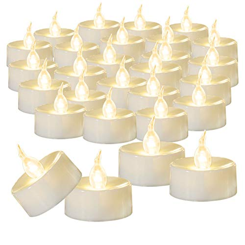 Beichi 100-Pack Flameless LED Tea Light Candles Bulk, Warm White Battery Operated Votive Tealight Little Candles, Small Electric Fake Tea Candles for Holiday, Wedding, Parties …