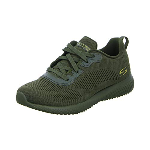 Skechers Women's BOBS Squad-Tough Talk Sneakers, Green (Olive Engineered Knit Old), 6 UK 39 EU