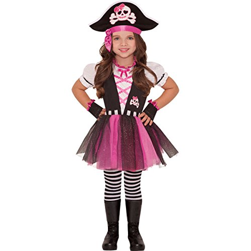 amscan- Deguisement 4-6 Ans Pirate Fille, 999698