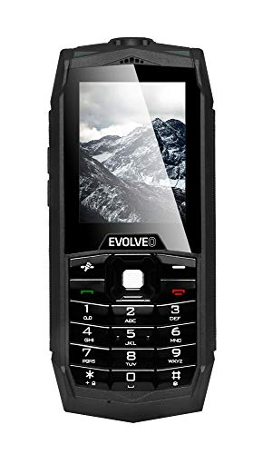 EVOLVEO SGP-Z1-B Mobile Phone, 16GB, 8 Megapixel Camera, Rugged Protective, Waterproof, Standard Schwarz