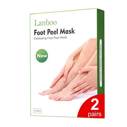Lanboo Fußpeeling Maske | FußMaske Hornhaut Entfernung | Socken Hornhaut entfernen | Repariert Raue Fersen | fussmaske | Baby Feet | Anti Hornhaut Socken für Frauen & Männer, für EU-Größe 35-46