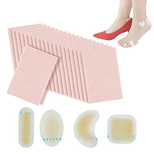 20 stuks Moleskin voetvulling, 4 stuks blisterkussens, blisterpreventie voor tenen, verlichten wrijving De1hiel patches…