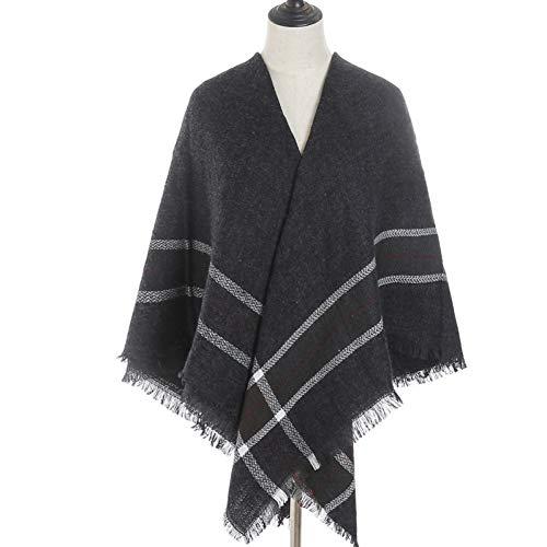 MYTJG sjaal voor dames, warm, voor de winter, Schotse ruiten, vierkante sjaal voor dames