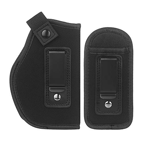 LIRISY Universal Holster | Concealed Carry IWB Holster | Inside The Waistband | Fits S&W M&P Shield, Glock 19 43 26 27 29 30 / Ruger LC12 & All Similar Handguns
