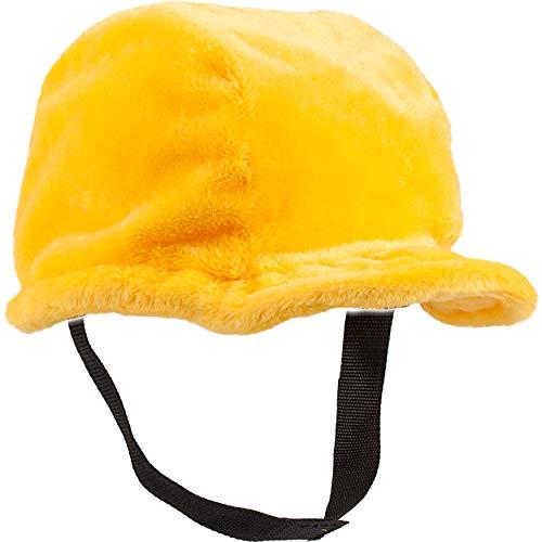 alles-meine.de GmbH 3D Effekt - Bauhelm / Bauarbeiter Mütze - universal & verstellbar - Erwachsene & Kinder - Plüsch Stoff - Helm - Schutzhelm - Arbeitshelm / Arbeitsmütze - Arbe..