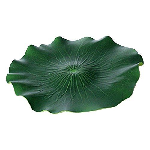 F Fityle 2 Stück Schwimmende Lotusblätter Kunststoff Pflanzen Aquarium Teich Dekoration - 40 cm