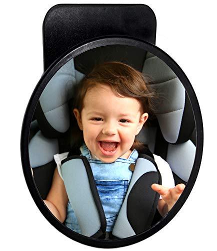 Spiegel für Baby großer Rücksitzspiegel 19 cm BabyView Sicherheitsspiegel für alle Autos perfekt für Babyschalen und Kindersitze für mehr Sicherheit im Auto einfachste Montage