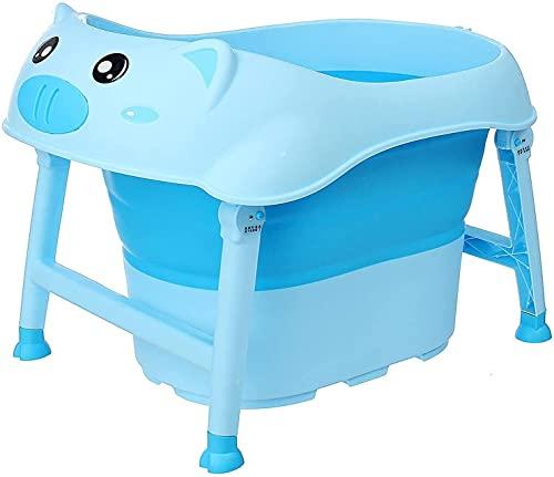 Bañera portátil Plegable para niños bañera bebé Suministros bebé Cubo de Agua con Silla para baño Caliente baño de Hielo (Color : #2, Size : 74 * 54CM)