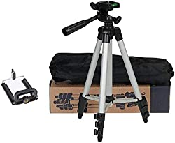 3110 Portable and Foldable Tripod with Mobile Clip Holder Bracket, Fully Flexible Mount with 3 Dimensional Head for Phones and Camera,Tripod,3110