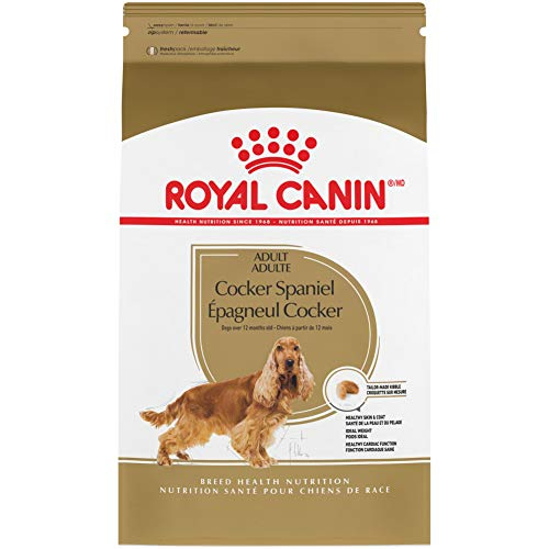 Royal Canin Cocker Spaniel Adult Breed Specific Dry Dog Food, 25 lb. bag