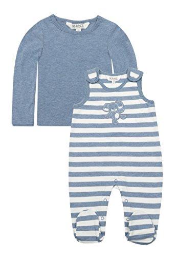 Kanz Kanz Unisex Baby T-Shirt 1/1 Arm Strampler, Blau (Moonlight Blue Melange 8026), 50
