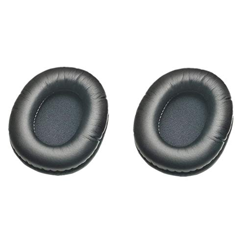 Soft Foam Ear Pads Cushions for Audio-Technica ATH-M50X M30X M40X Headphones White Black Earpads (Black)