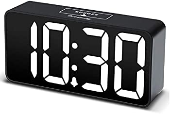DreamSky Compact Digital Alarm Clock with USB Port for Charging