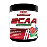 BCAA Plus L-Glutamine by Revlabs - Watermelon Flavor, Branched Chain Essential Amino Acids, Keto Friendly, Post-Workout Muscle Recovery and Muscle Builder, 45 Servings