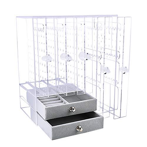 Caja Pendientes Caja Almacenamiento Joyería Transparente de Acrilico Caja Organizador Joyas Soporte...