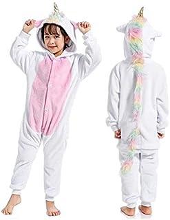 Silver Basic Animale Pigiama Flanella Unicorno Ragazza Cosplay di Carnevale Costume Intero Caldo