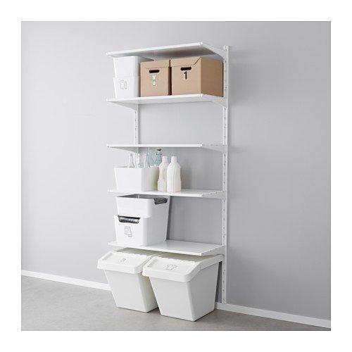 Ikea ALGOT Wandschiene/Böden Aufbewahrungssystem; in weiß; (85x40x196cm)