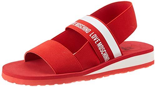 Love Moschino Damen Ja1601 Peeptoe Sandalen, Rot (Rosso 500), 40 EU