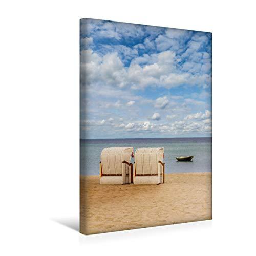 CALVENDO Premium Textil-Leinwand 30 x 45 cm Hoch-Format SIERKSDORF Idyllischer Blick auf die Ostsee, Leinwanddruck von Melanie Viola