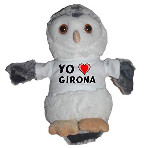Shopzeus Búho de Peluche con Amo Girona en la Camiseta (