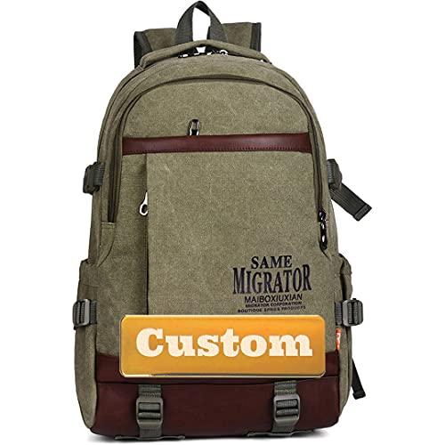 Nombre Personalizado Ligero Pequeño Senderismo Daypack Nylon Mujeres Casual Slim Laptop Mochila (Color : Junlvse, Size : One Size)