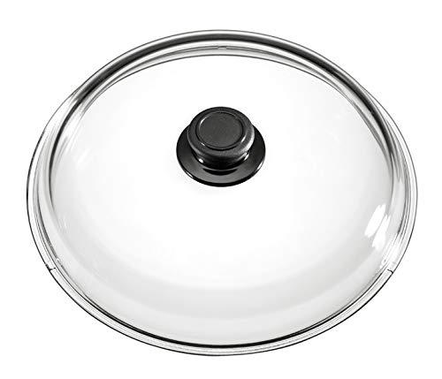 MaxxGoods Simax Couvercle en verre Ø 28 cm avec bouton Passe au four