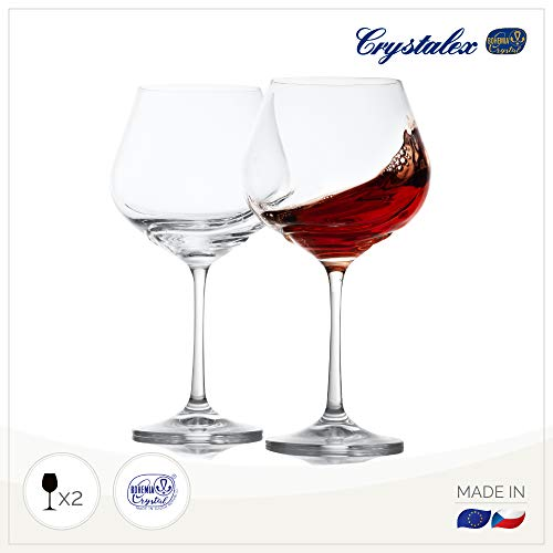Turbulencia enorme rojo copa de vino Set de 2