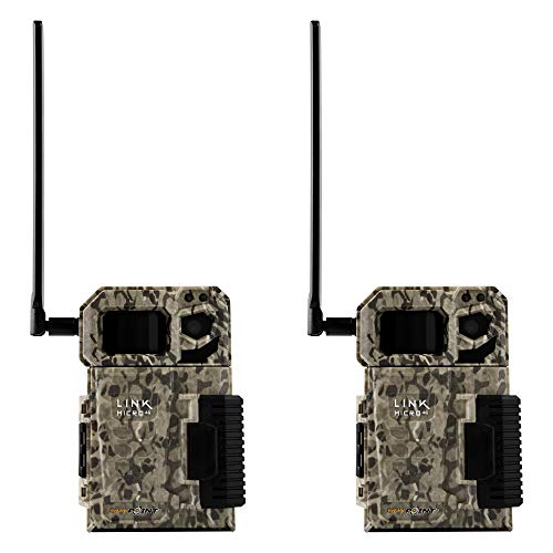 SPYPOINT LINK MICRO Nationwide 4G Cellular Hunting Trail Game Camera (2 Pack)