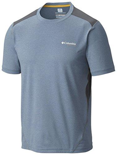 Columbia Mens Titan Ice Short Sleeve Shirt Steel Heather 2X Large