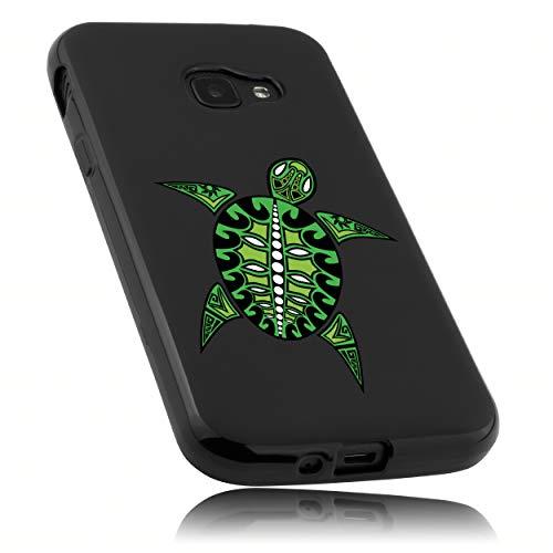 mumbi Hülle kompatibel mit Samsung Galaxy Xcover 4 / 4s Handy Hülle Handyhülle mit Motiv Schildkröte, schwarz