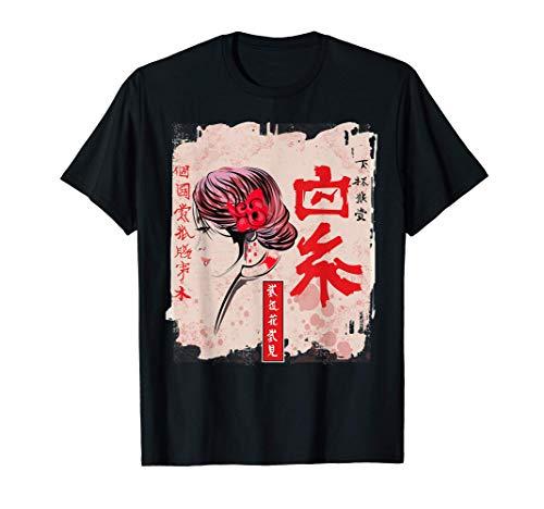 Geisha Kawaii japonesa antigua en Kimono Japan Art Tea Camis