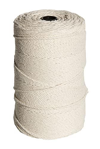 Hilo para macrame 100% de algodón suave y flexible (2MM X 335METROS)   BEIGE/CRUDO
