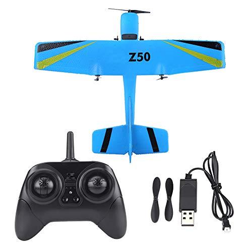 Dilwe RC Avión Juguete, 2.4G ZC-Z50 Control Remoto Plane Planeador EPP ala Fija Aviones de Control Remoto Modelo de Juguete(Azul)