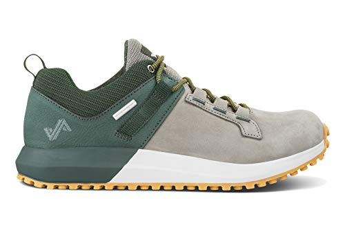 Forsake Range Low – Herren Approach Waterproof Leather Sneaker, Grau (Olivfarben / Grau), 46.5 EU