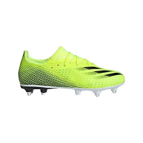 adidas X GHOSTED.3 SG, Zapatillas de fútbol Hombre, Amasol/NEGBÁS/AZUREA, 46 EU