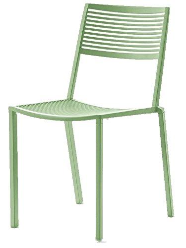 Fast Easy Chaise empilable en Aluminium Art 1503 Couleur Vert Sauge
