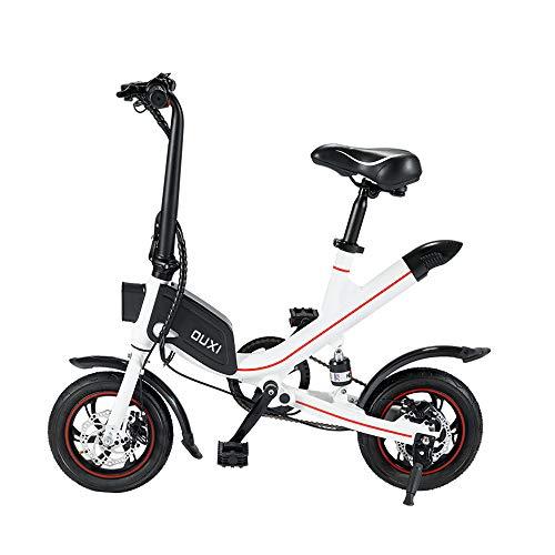 OUXI V1 Bicicletas eléctricas para Adultos, Bicicleta Plegable Fat Tire con batería...
