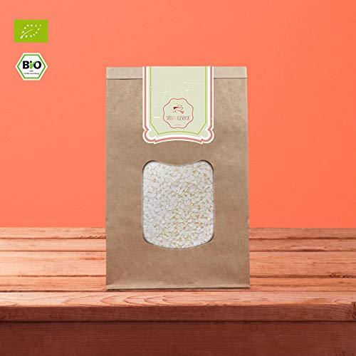 süssundclever.de® Bio Milchreis | Rundkornreis | weiß | aus Italien | 2 x 1 kg | unbehandelt | plastikfrei und ökologisch-nachhaltig abgepackt