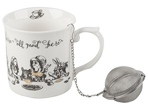 V & A Alice in Wonderland Mini-Teekanne, 450 ml (16 FL oz), Knochenporzellan, One Size