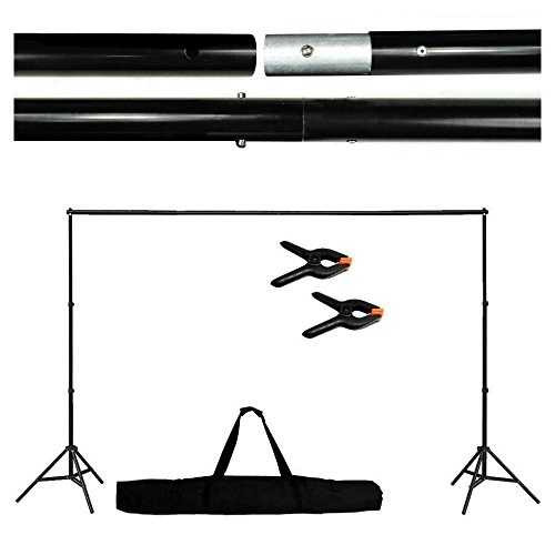 10Ft Adjustable Background Support Stand Photo Backdrop Crossbar Kit Photography Camera Supply