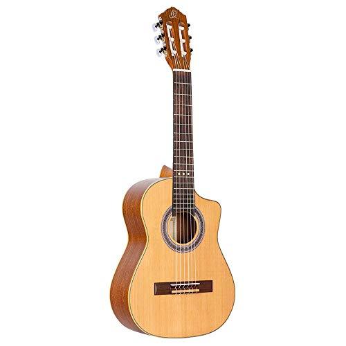 Ortega Requinto Series Guitarra acústica 6 cuerdas - Tapa de cedro (RQC25)