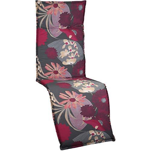 beo M705 Barcelona Coussin d'assise pour Chaise de Jardin Motif Baies forestières Rouge 171 x 50 x 50 cm 6 cm.